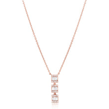 Load image into Gallery viewer, Diamond Baguette Necklace