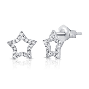 Open Star Earring