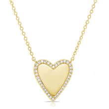 Load image into Gallery viewer, Gold & Diamond Heart Pendant