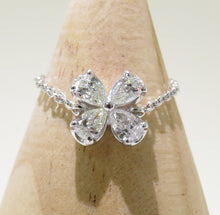 Load image into Gallery viewer, Adjustable Pear Flower Chain Ring