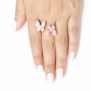Butterfly Kisses Ring Pink