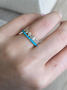 Small Turquoise Eternity Band