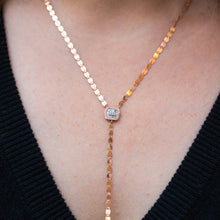 Load image into Gallery viewer, Glimmer & Diamond Pendant Lariat