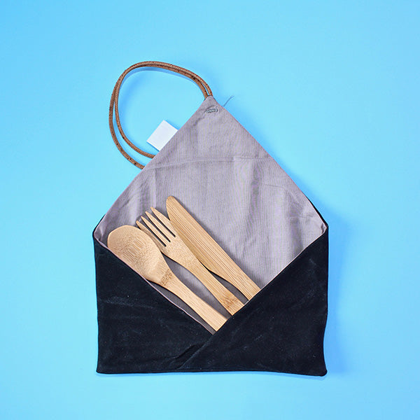 Organic Waxed Canvas | Zero Waste Travel Cutlery Case