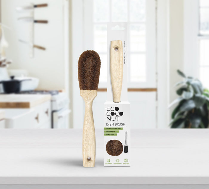 Eco Coconut Dish Brush - 2 pack
