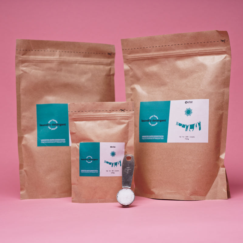brown bags for laundry detergent