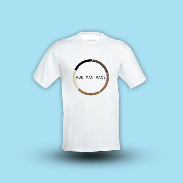 Hue-Man Race Organic Cotton T-shirt<br><small>Circle Hue Design</small>