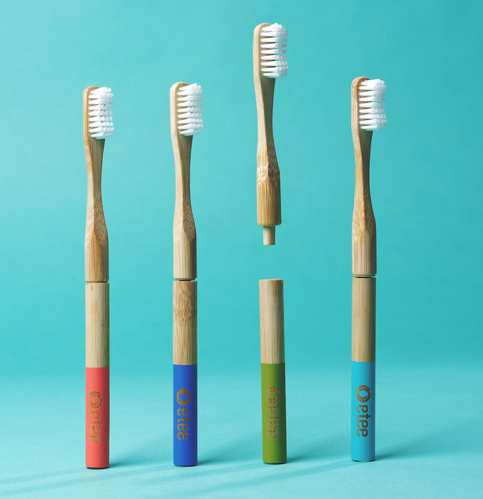Bamboo Toothbrush with Replaceable Heads Multi-Packs