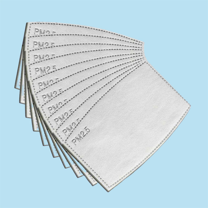 10 Pack of PM2.5 Disposable Mask Filters