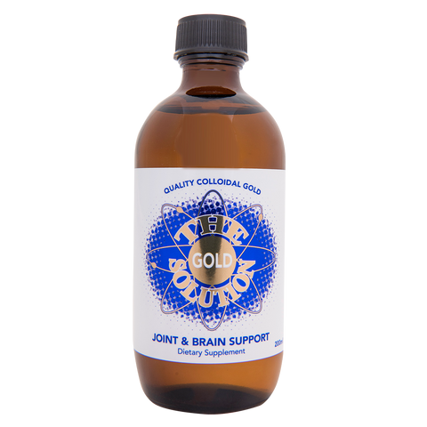 The Gold Solution - 200ml Colloidal Gold - 4health.co.nz