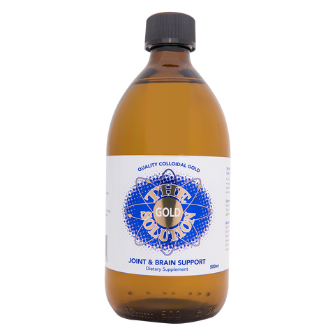 The Gold Solution - 500ml Colloidal Gold - 4health.co.nz