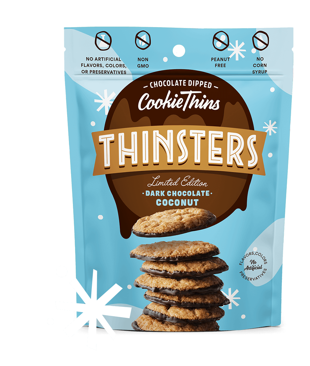 Thinsters Dark Chocolate Coconut, 4 oz (6 pack)