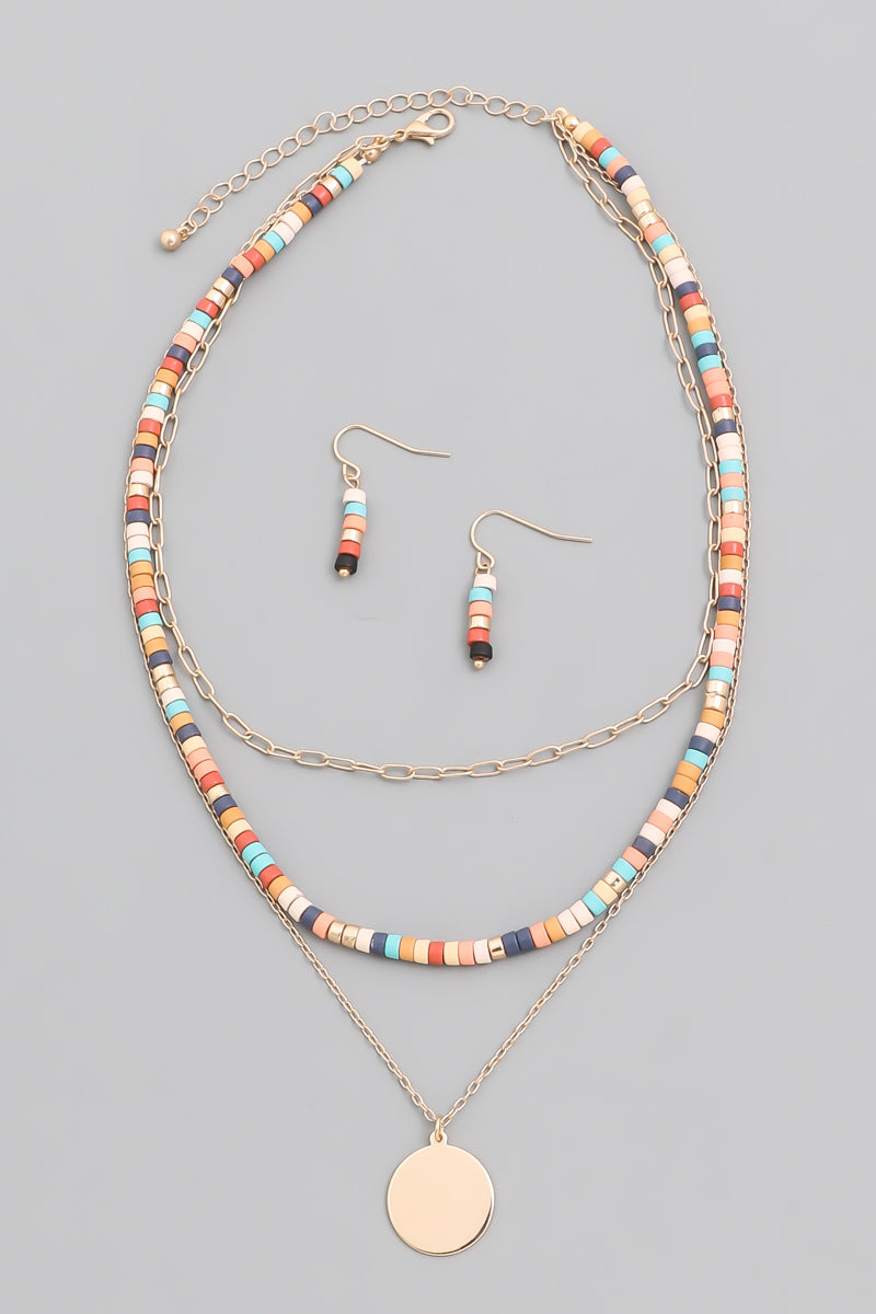 Beaded Triple Necklace