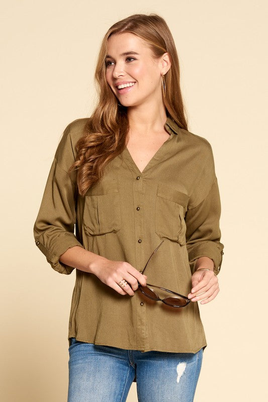 Olive Safari Blouse