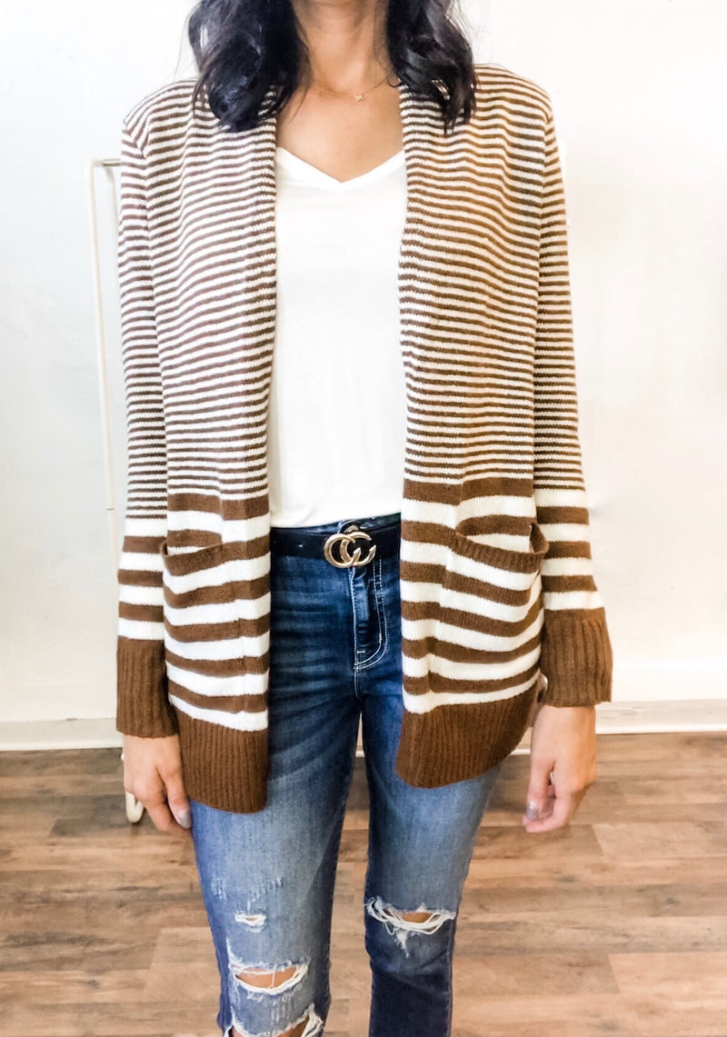 Copper Striped Cardi