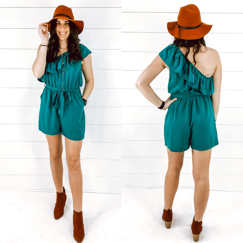 Teal Lilly Romper
