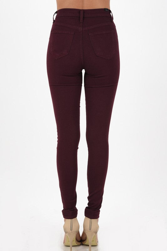 Kan Can Burgundy Jeans