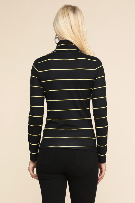 Striped Love Turtleneck