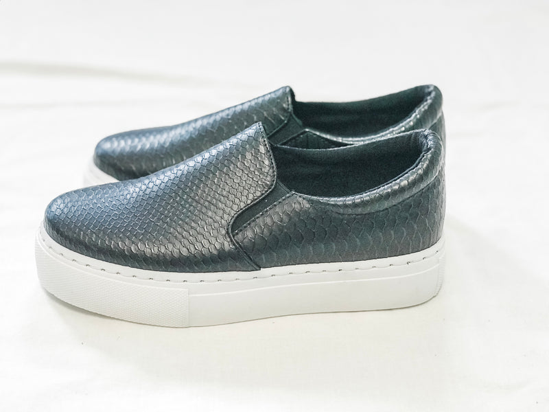 Black Snakeskin Sneakers