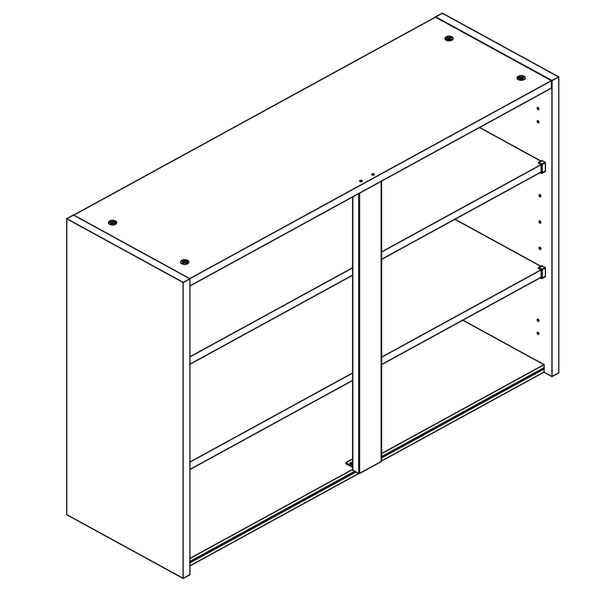 Routed Handless Cabinets Wall Unit - 01