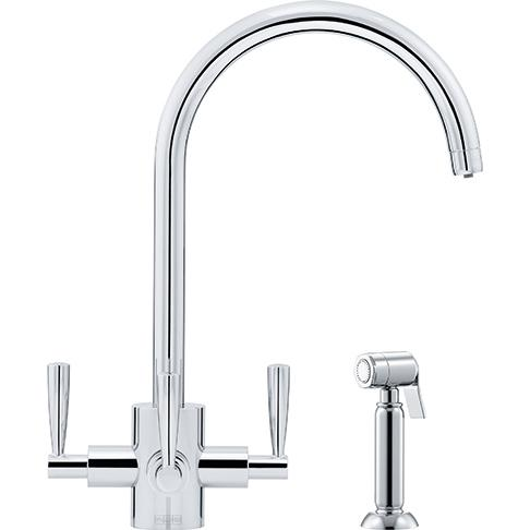 Olympus Filter Flow Chrome Swivel Spout/Side Spray