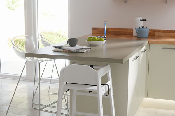 SLAB KITCHEN IN CREAM