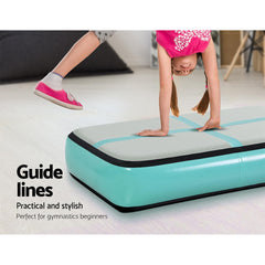 Everfit 1M Airtrack Inflatable Air Track Board Mat - Mint