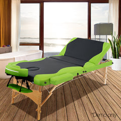Livemor Portable Wood Massage Table - 3 Fold