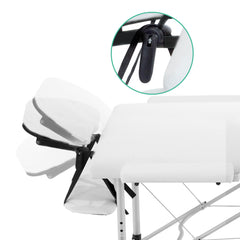 Livemor Portable Aluminium Massage and Treatment Table - 3 Fold