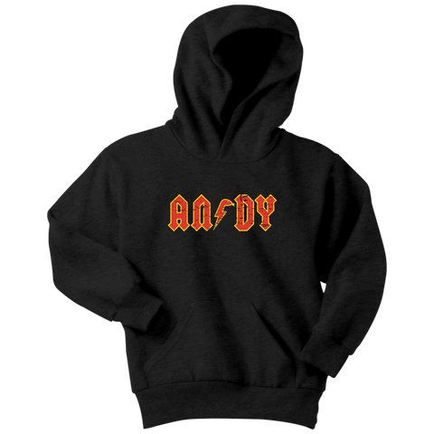 ANDY - AC/DC inspired Youth Hoodie