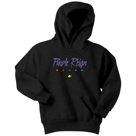 PURPLE REIGN - Prince inspired Thanos Youth Hoodie