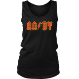 ANDY - AC/DC inspired Womens Tank T-Shirt