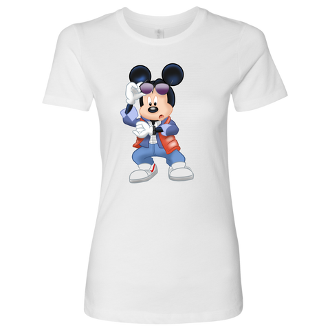 MICKFLY - Mickey Mouse as Marty McFly Womens T-Shirt