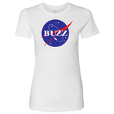 BUZZ - NASA inspired Buzz Lightyear Womens T-Shirt