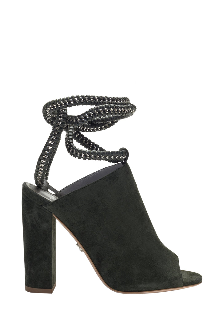 DANIA ARMY GREEN SUEDE SANDAL