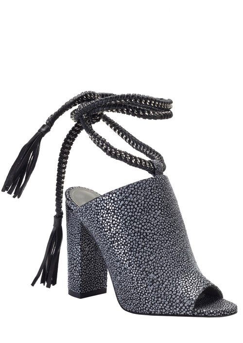 DANIA CHARCOAL STINGRAY SANDAL - Monika Chiang