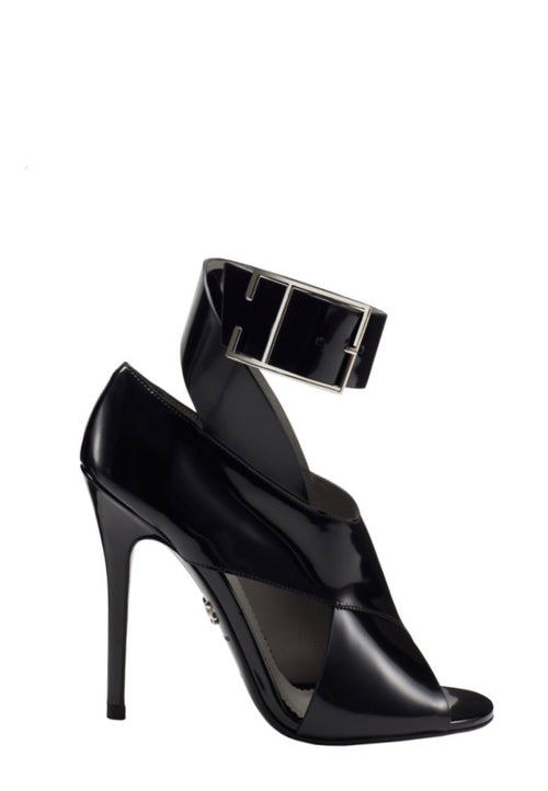 MICHAELA BLACK BRUSHED CALF SANDAL - Monika Chiang