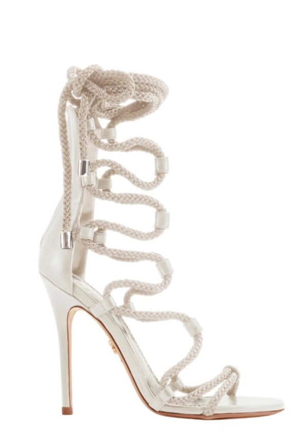 GIADA CLOUD WHITE CALF SANDAL - Monika Chiang