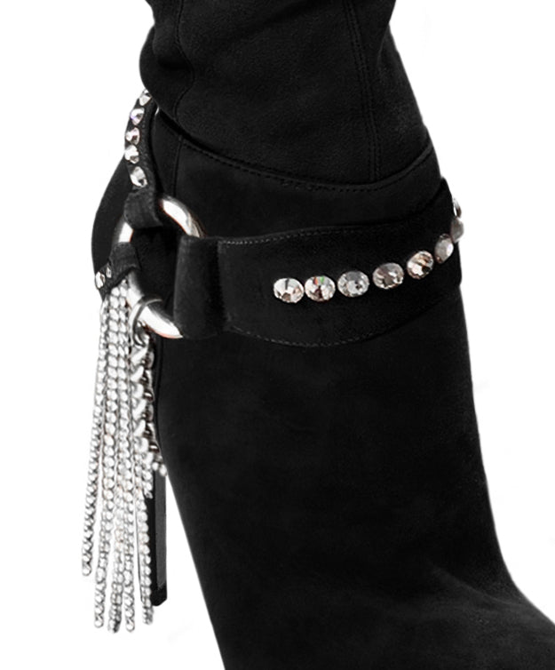 CRYSTAL FRINGE BOOT ACCESSORY