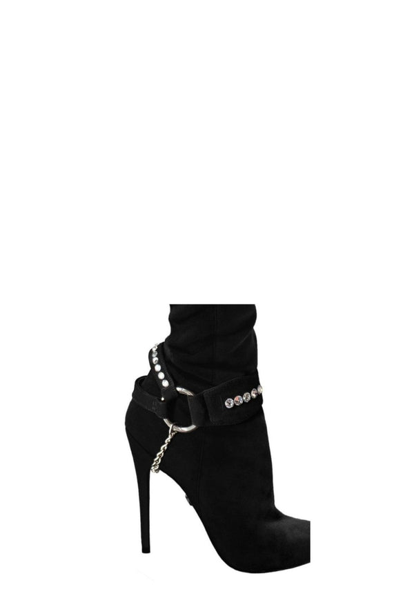 CRYSTAL SUEDE BOOT ACCESSORY