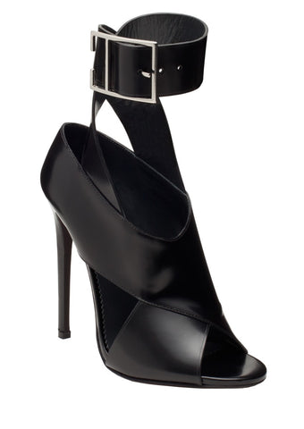MICHAELA BLACK BRUSHED CALF SANDAL