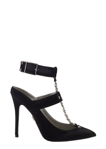 REINA BLACK SUEDE PUMP