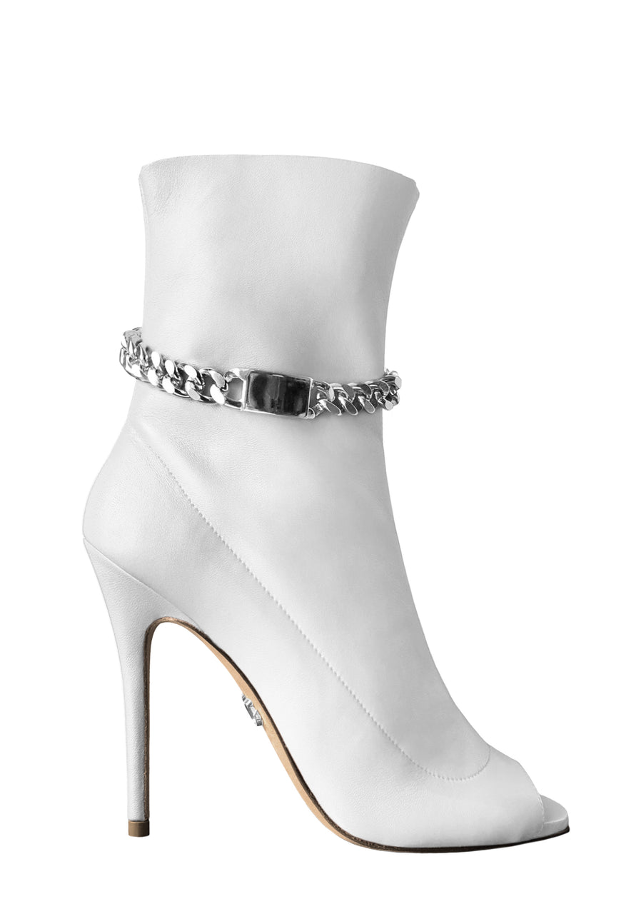 STANA WHITE CALF SOCK BOOT - Monika Chiang