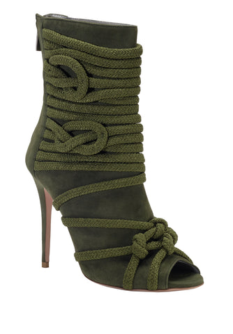 TALITA ARMY GREEN SUEDE & ROPE BOOT - Monika Chiang