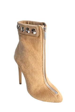TRAINA CAMEL CALF HAIR BOOTIE