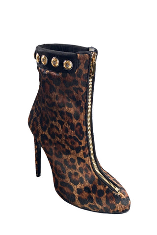 TRAINA LEOPARD-PRINT CALF HAIR ANKLE BOOT - Monika Chiang