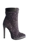 TRAINA VELVET GLITTER ANKLE BOOT - Monika Chiang