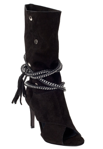 ARMENA BLACK SUEDE BOOT - Monika Chiang