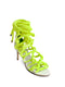 CARLA 80  &  WHITE & NEON YELLOW ROPE SANDAL