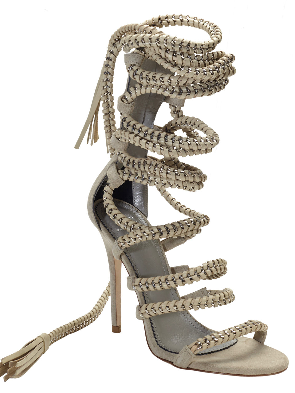 IMENA CASHMERE SUEDE SANDAL - Monika Chiang